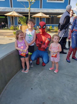 Spider Guy and friends