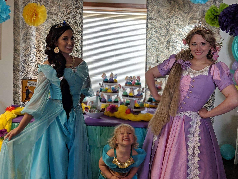 Arabian & Tower Princesses at Event
