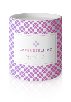 Lavender lilac candle