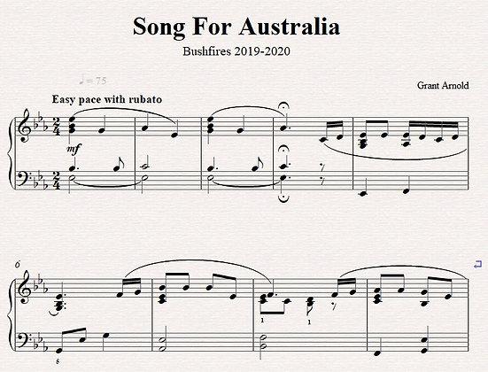 Song For Australia - Piano Solo