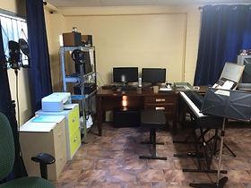 Studio music tech area