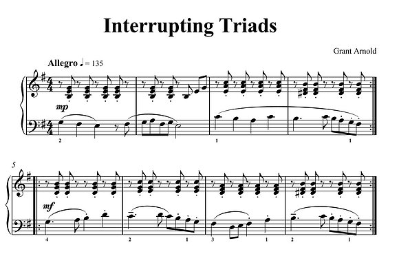 Interrupting Triads