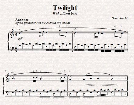 Twilight (with Alberti bass)