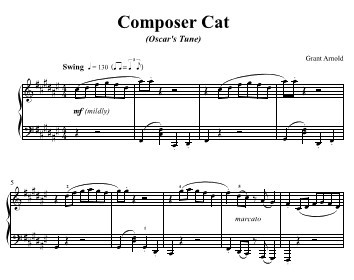 Composer Cat Sample Sheet Music