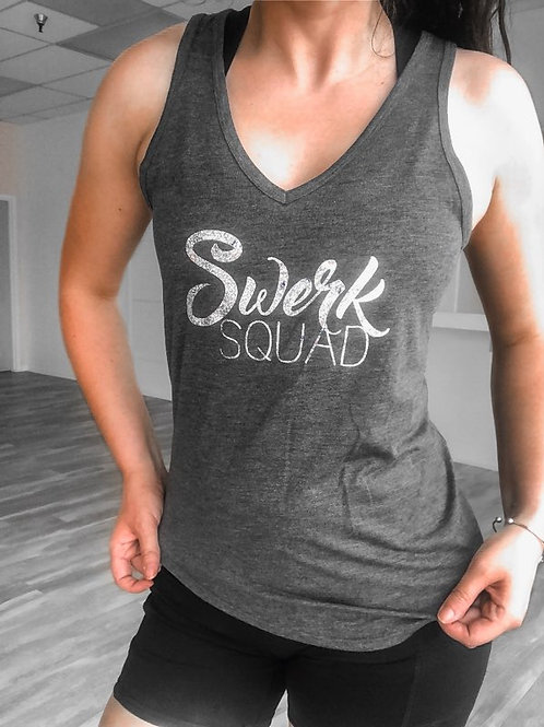 Squad Silver Holographic V-Neck Tank
