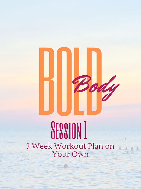 BOLD Body Workout Plan