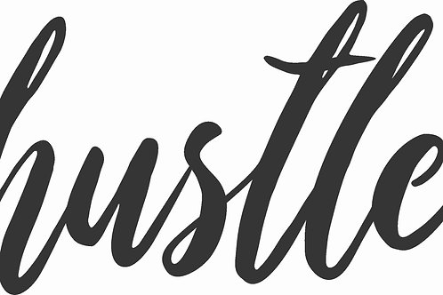 hustle lower case graphic