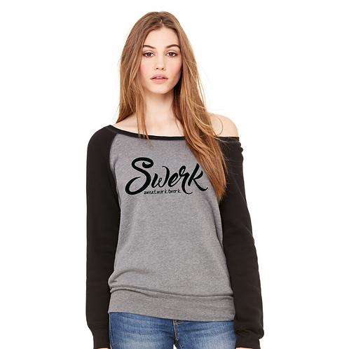 SWERK Wide Neck Slouchy Sweatshirt