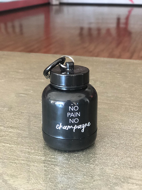 No Pain No Champagne Protein Funnel Key Chain