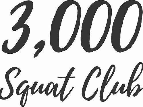 3,000 Squat Club Graphic
