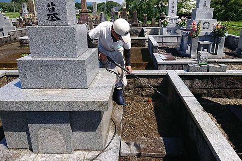 墓石クリーニング(本体、外柵)