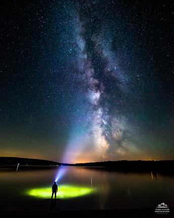 Lit Up Under the Milky Way