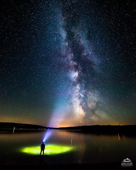 Print 1-003 - Lit Up Under the Milky Way