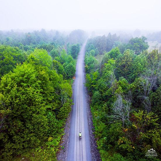 Print 2-004 - Riding the Foggy Road Ahead