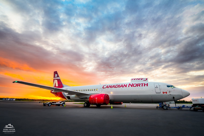 Print P4-005 - First Sunrise for this Merged Arctic Airline