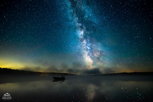 Milky Way Lucky Reflections