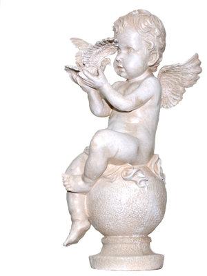 Фигура садовая Ангел на шаре со скрипкой
