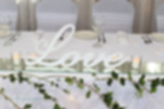 Italic Love Sign Bridal Centrepiece
