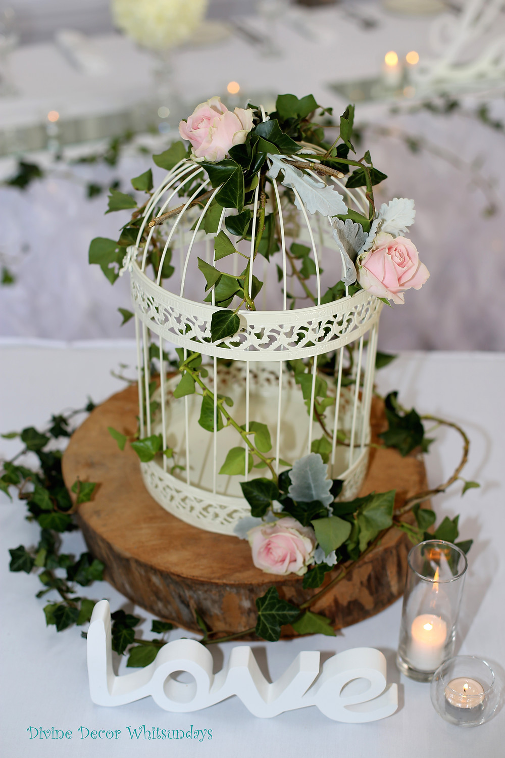 Rustic Style Bird Cage Wishing Well