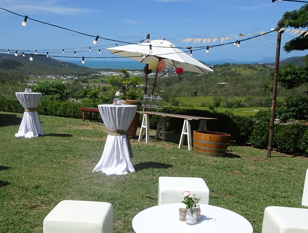 Divine Wedings Whitsundays - Festoon Lighting - Rustic Bar