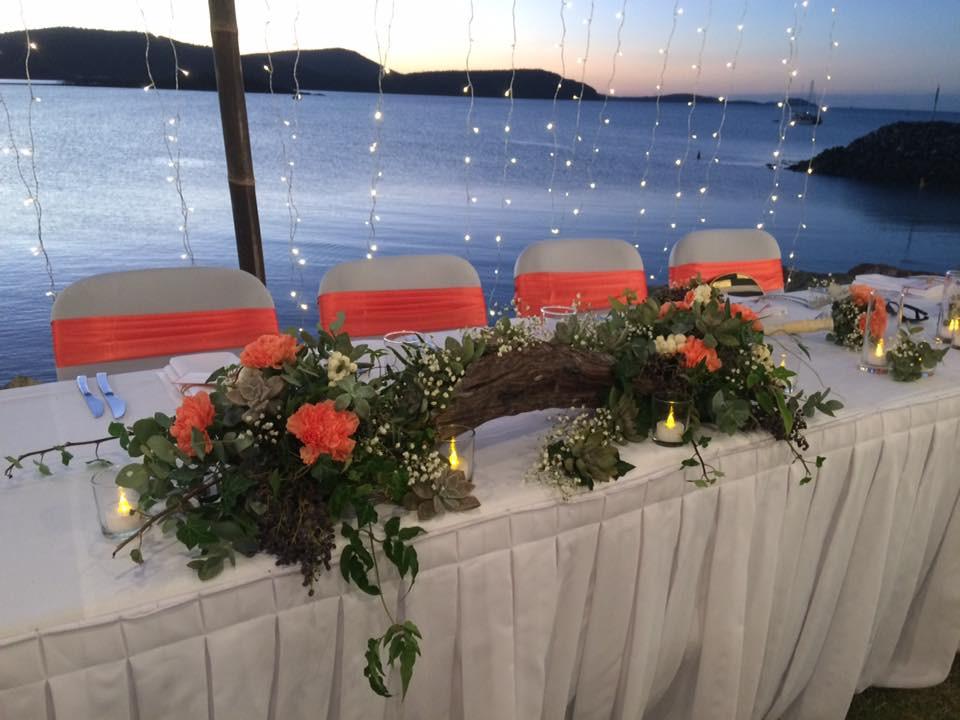 Bridal Table - Nugent wedding- The Marine Club Lawn