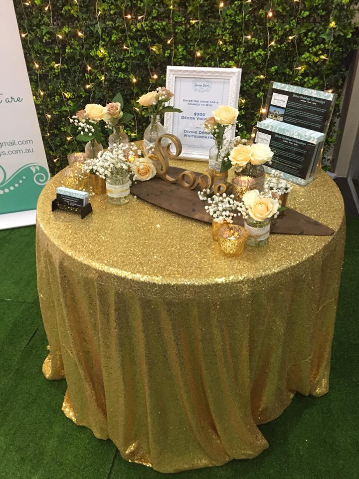 Divine Weddings Whitsundays - Rustic Golds Table Decor
