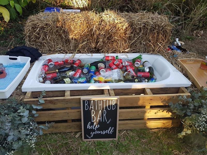Rustic Bath Tub Bar