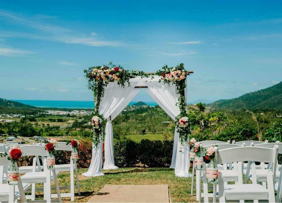 Divine Weddings Whitsundays - Floral and Foliage - large bamboo arbour