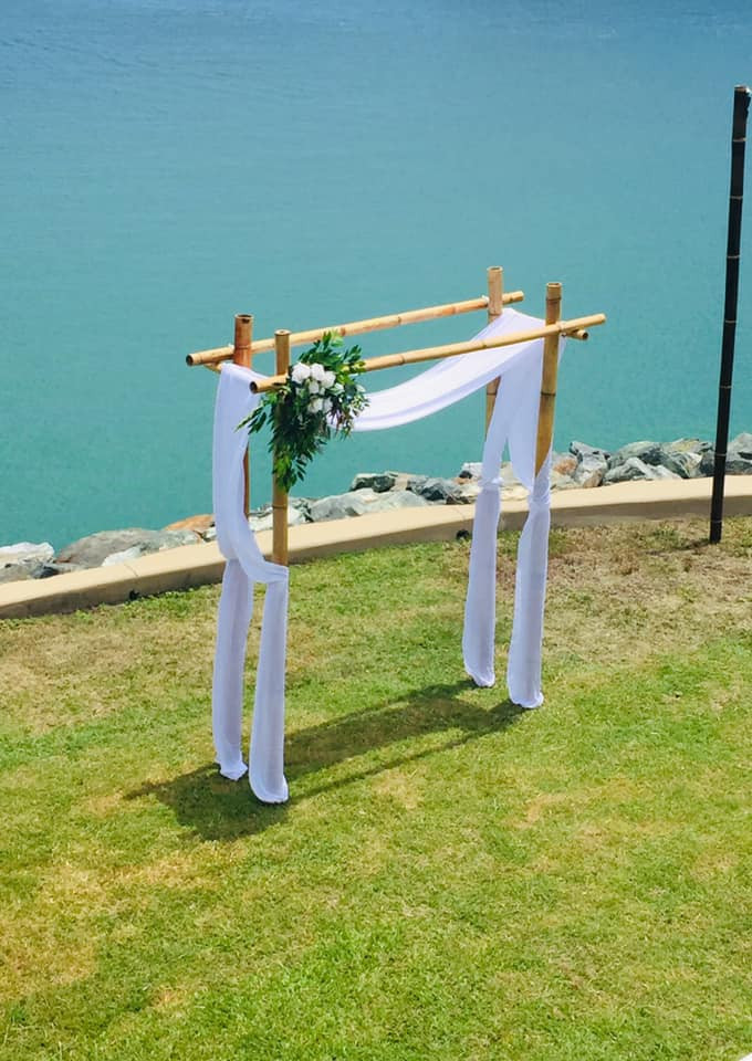 Blonde-Bamboo-Arbour-Ceremony