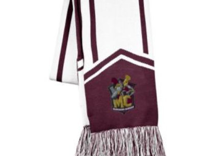 Scarf with Embroidered Band Logo
