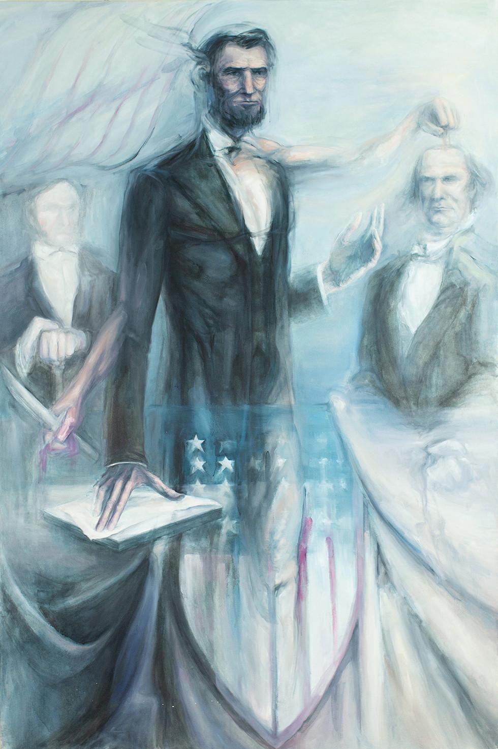 Perseus Slaying Medusa (Lincoln/Douglas debate)