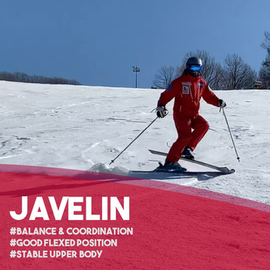 Fun ski drills: Javelin