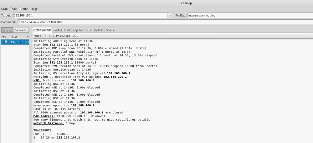 Nmap scan showing 0 results after implementing ACLs and disabling services