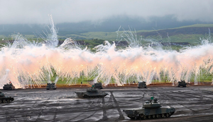 Tanks utilizing smoke, image for education only