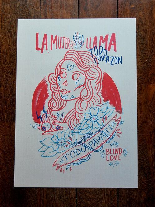 MUJER LLAMA / Print