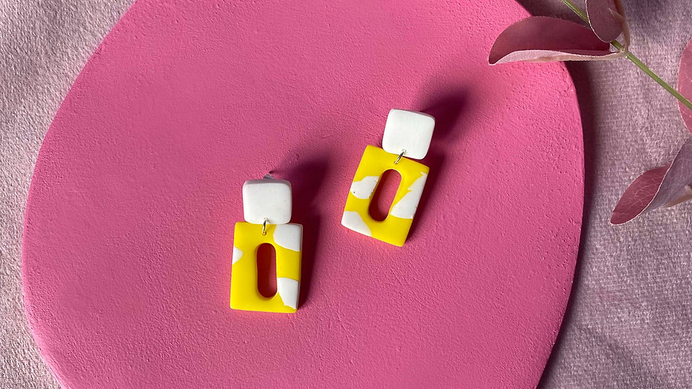Rectangle retro earrings