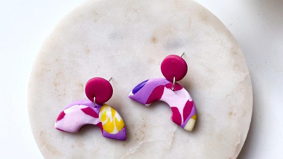 60's retro arch earrings