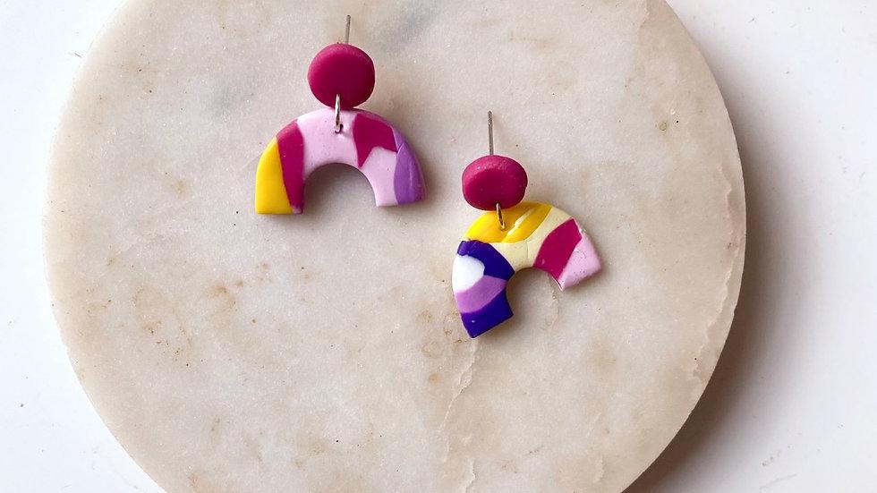 60's mini-arch earrings