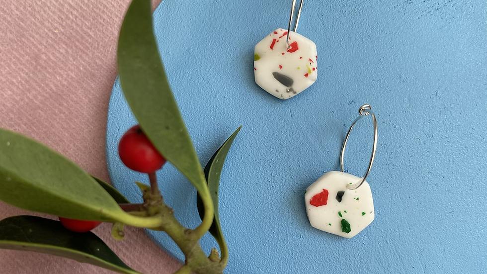 Rea hexi hoop earrings