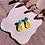 Thumbnail: Yellow blob earrings