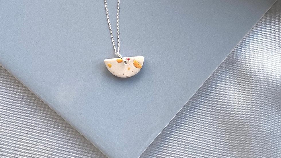 Semi-circle gal silver necklace