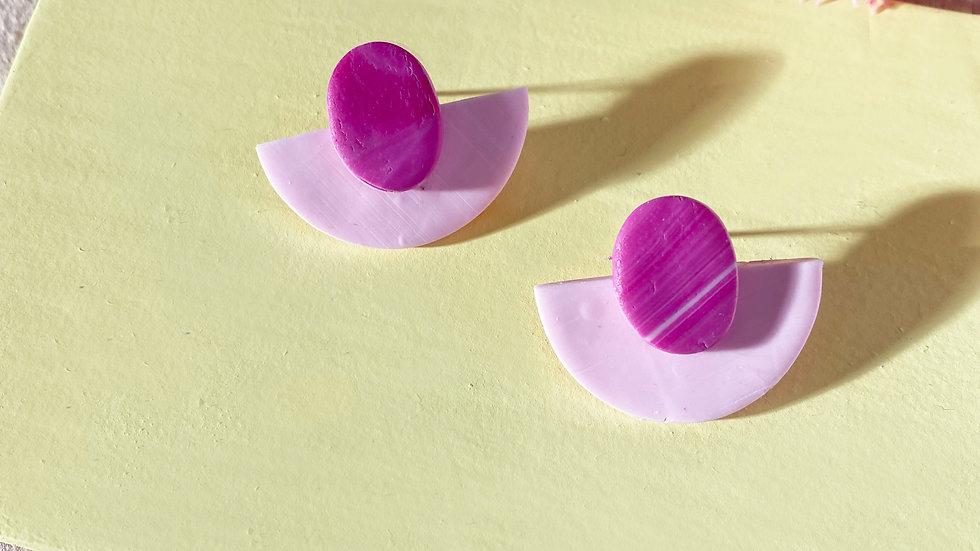 Daniela - dome layered earrings