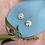 Thumbnail: Rea hexi hoop earrings