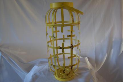Large Yellow Metal Lantern