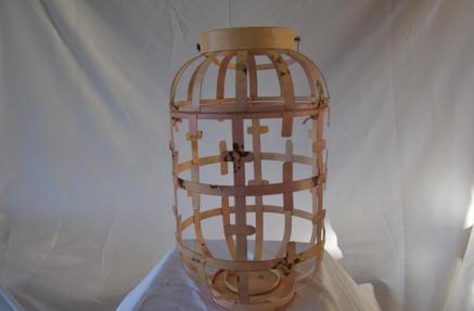 Large Pink Metal Lantern