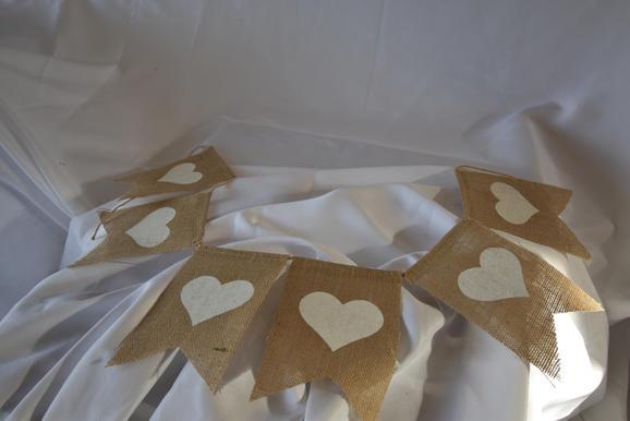 Burlap Hearts Sign