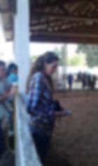 2017 Linn County Lamb & Wool Fair Queen Savannah with ribbons for the sheep show winners