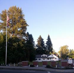 Scio Veterans Memorial in Fall