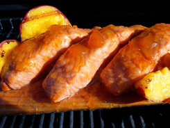 Grilled Peach Salmon