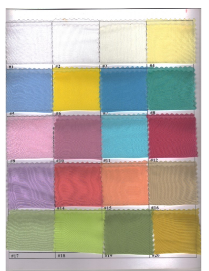 Sheer Fabric Colors